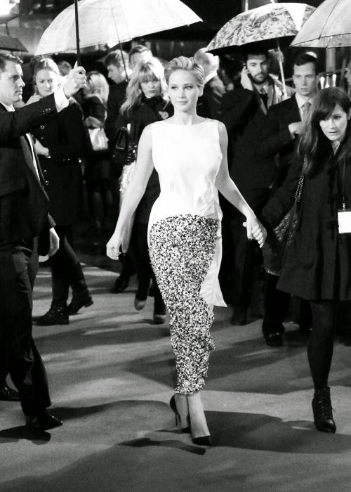 La parenthèse dorée+Hunger+Games+Catching+Fire+Embrasement+avant+première+Londres+Jennifer+Lawrence
