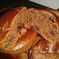 Muffins aux pépites de chocolat banane.2 pp la part recette pour 12 parts