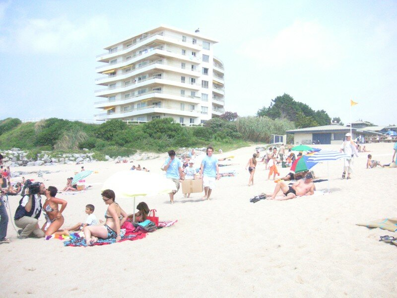 sur la plage à Biarritz