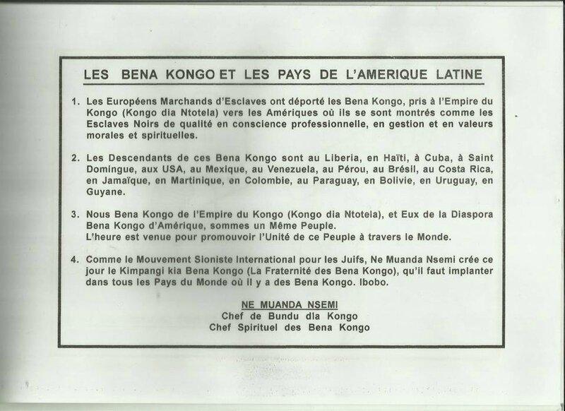 LES BENA KONGO ET LES PAYS D'AMERIQUE LATINE b