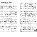 River in the rain (from