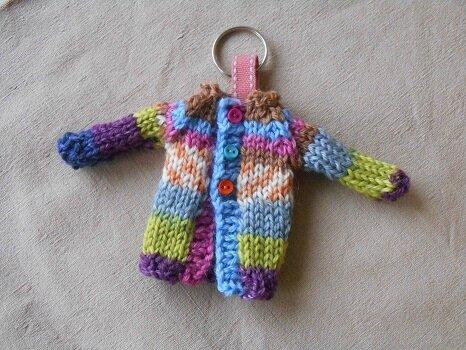 porte clé tricot