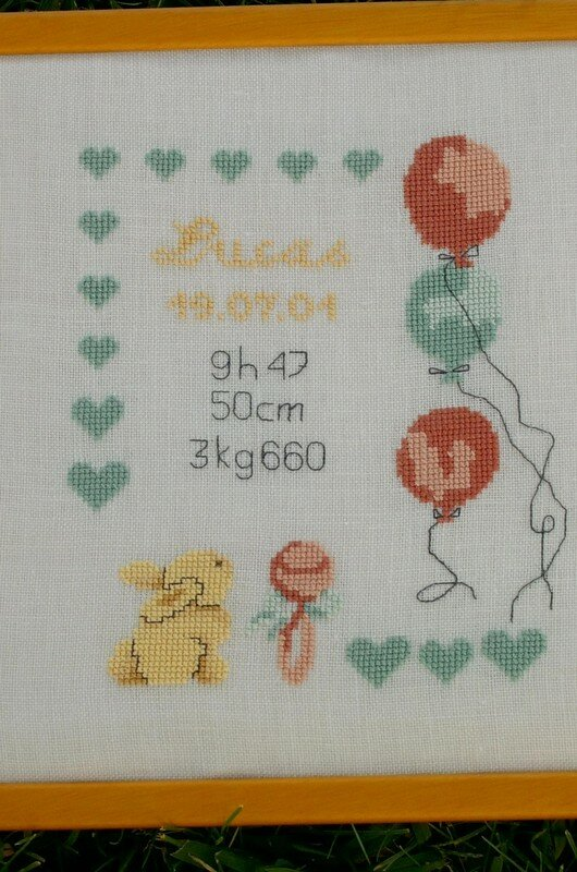 Tableau de naîssance de Lucas détail