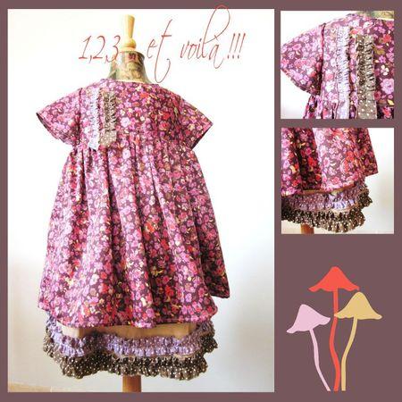 robe fleurie et jupon
