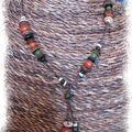 Collier Bois fil de coton (CC14)