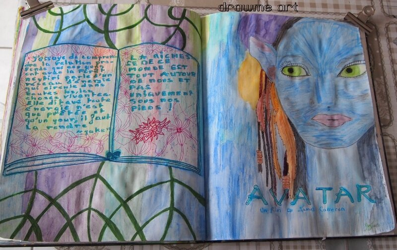 artjournal et gribouillage theme film version 2 drawme art domib