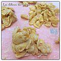 Roses des sables au chocolat blanc