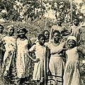 Jeunes filles a bangangté en 1956