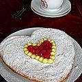 Dacquoise citron - framboises pour la saint valentin