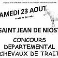 23 aout 2014 - concours départemental chevaux de trait - st jean de niost (ain)