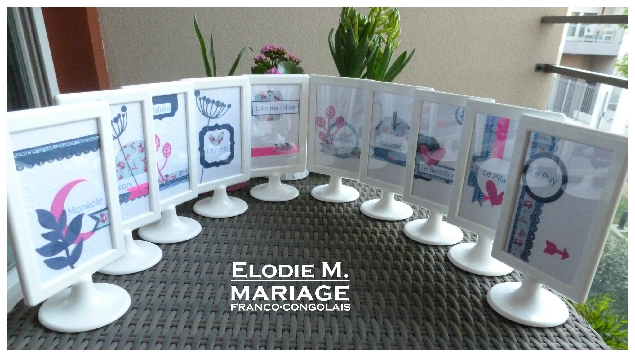 Package mariage my home scrap home for Porte nom de table