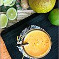 Jus carotte, orange, citron vert & gingembre - jugo zanahoria, naranja, limon verde & jenjibre