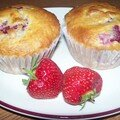 Muffins aux framboises et noix de coco leger