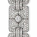 An Art Deco diamond bracelet, by Bulgari