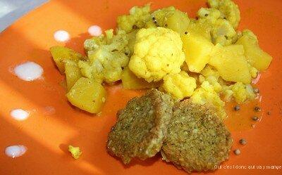 pomme de terre chou fleur épices sans gluten et sans lactose qui c'est donc qui va y manger (7)