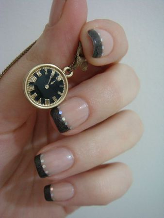 Nail art french noire 3