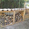 Bac à compost + abri à bois en palettes
