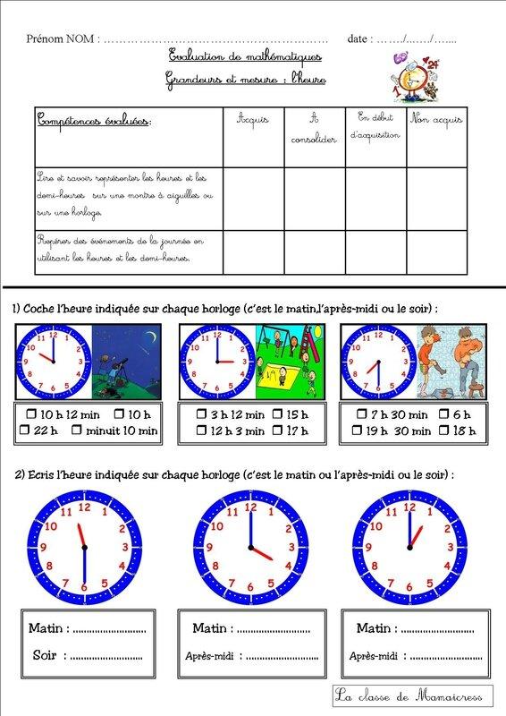 évaluation 1