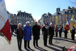 journée de souvenir des victimes de la déportation Avranches 2013 Claude Dulamon Guénhaël Huet Jean Andro