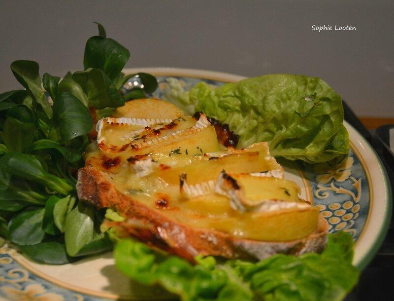Tartine pomme camembert