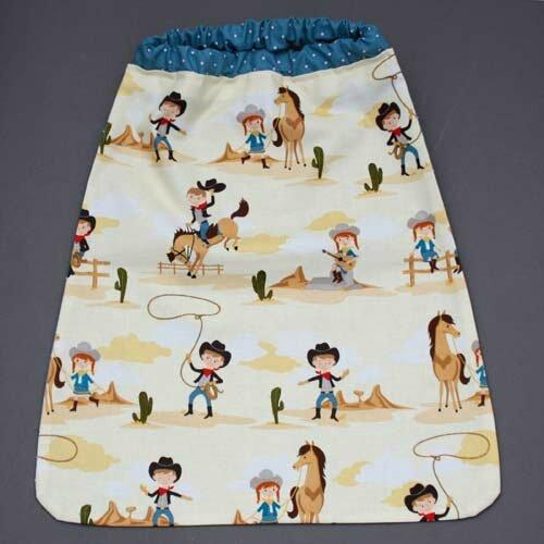 Nouvelle serviette de table enfants avec cou élastiqué Lilooka : Les cow boys