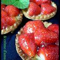 Tartelettes aux fraises & crème d'amande