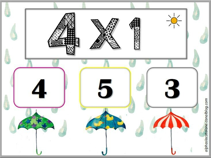 Tables de multiplication x3 x4 et x5 jeu for Jeu sur les multiplications