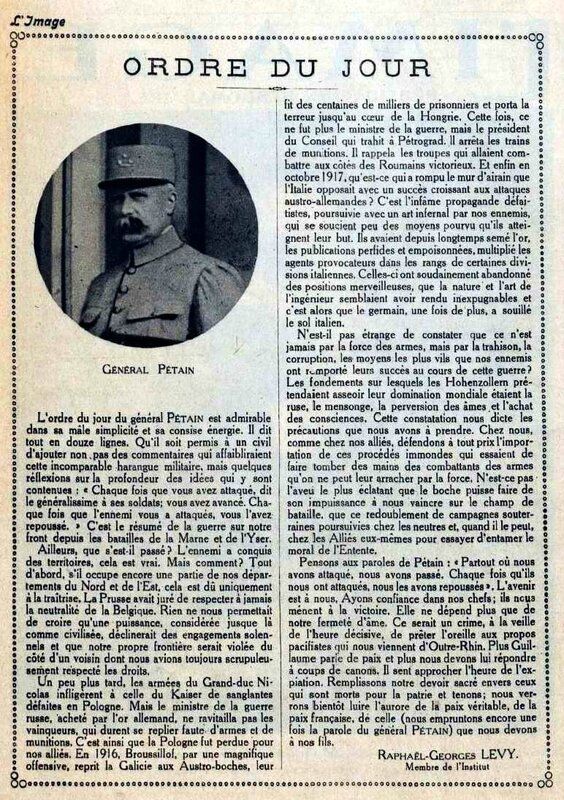 Pétain ordre du jour