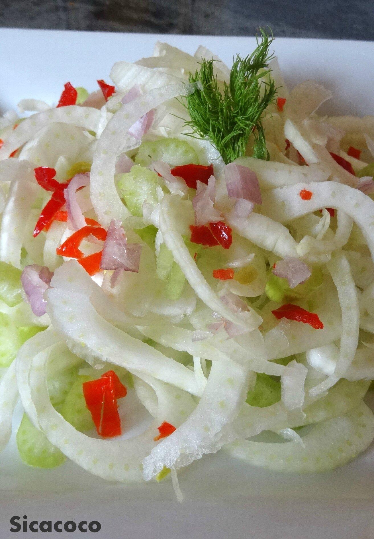Salade de fenouil croquante et celeri les carnets de sicacoco - Que faire avec les feuilles de celeri ...