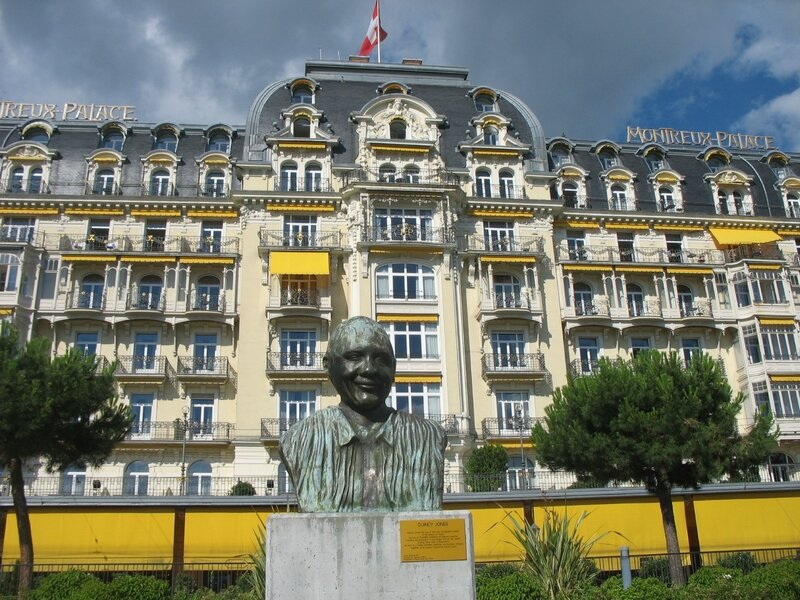 Montreux, statue de Quincy Jones (Suisse)