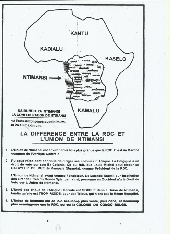 LA DIFFERENCE ENTRE LA RDC ET L'UNION DE NTIMANSI b
