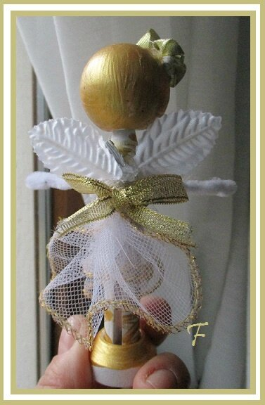 clothepin doll gold