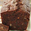 Cake au chocolat, pépites de chocolat et citron confit