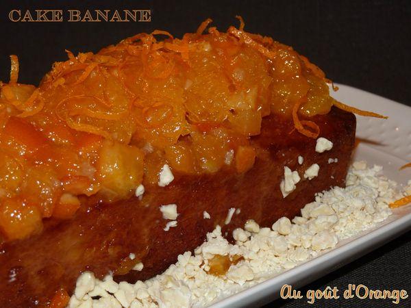 Cake banane au goût d'orange