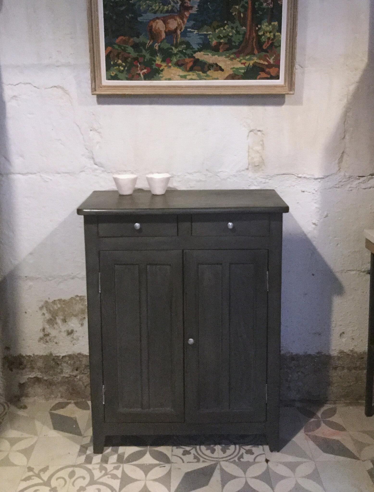 Meuble peint patin petit tuto pour patiner vos meubles - Patiner un meuble peint ...