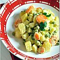 Curry de lgumes, ou comment faire manger chou-fleur, carottes et petits pois aux enfants