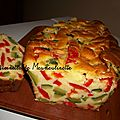 Cake aux courgettes et poivrons