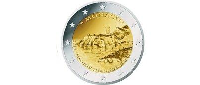Monaco 2 Euro Commémorative Nationale BE 2015 « 800ème Anniversaire de la 1ère Forteresse Génoise sur le Rocher de Monaco »