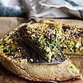 Quiche aux poireaux, chou kale et graines de pavot (sans gluten)