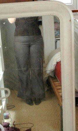 pantalon strech rayé