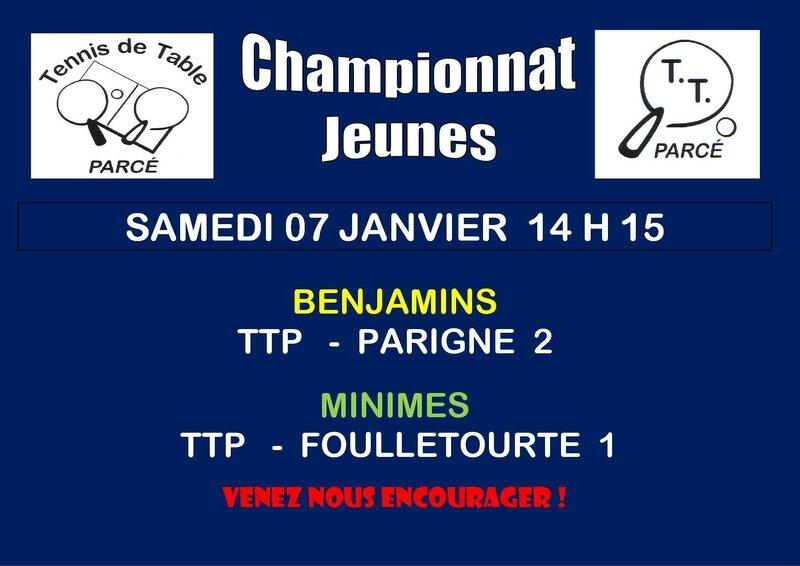 Affiche Championnat Jeunes J 3