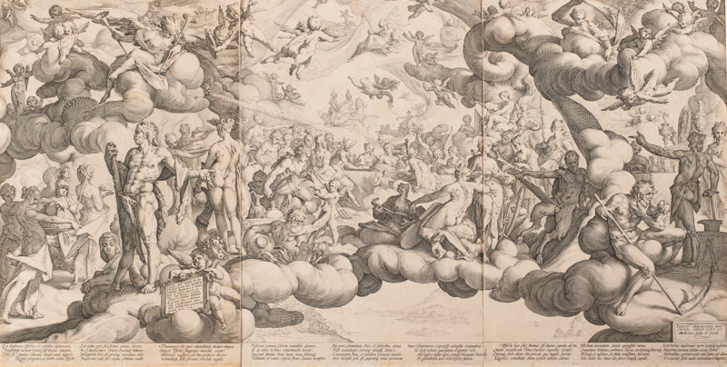 Hendrick Goltzius and Bartholomeus Spranger, Wedding of Cupid and Psyche, 1587
