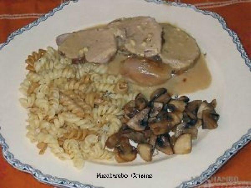 Filet Mignon de Porc au Roquefort en Papillote