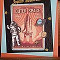 Carte anniversaire thème espace