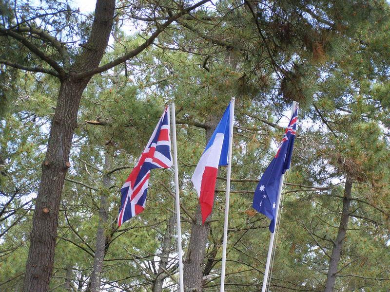 Les drapeaux dans le ciel