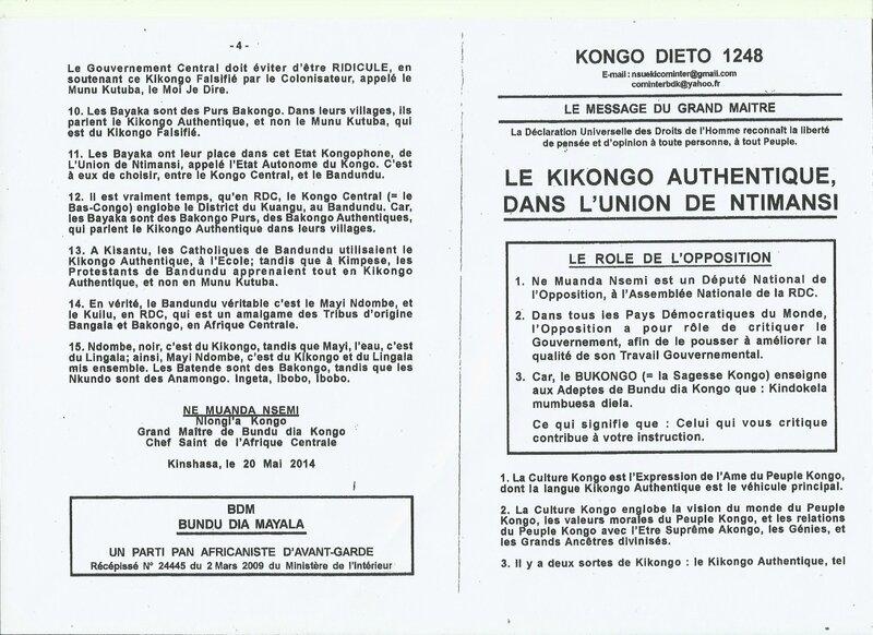 LE KIKONGO AUTHENTIQUE a