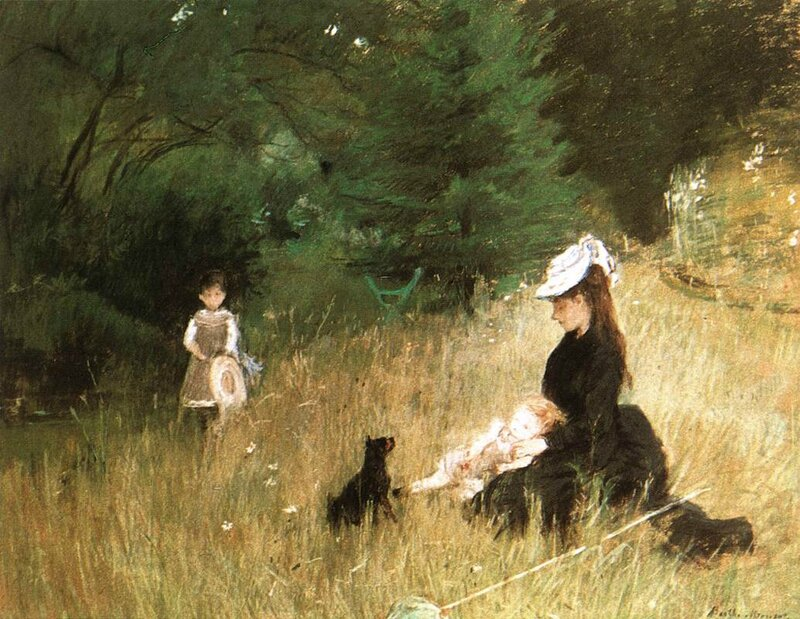 1874 Dans l'herbe