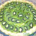 ♥ tarte kiwi sur lit de coco