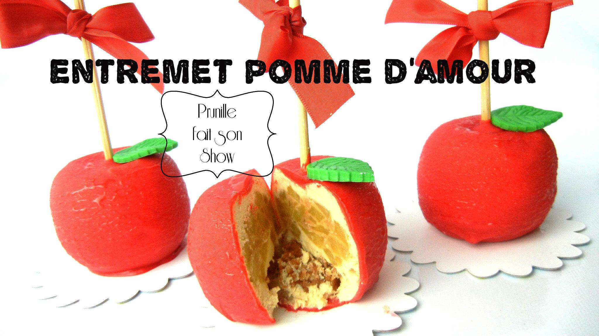 """Entremet """"Pomme d'amour"""" façon Cedric Grolet"""