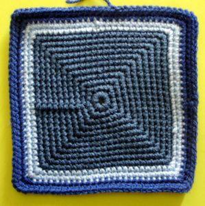 200 carrés crochet Boîte